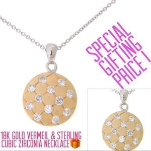 Jewelry - Only 5 Left!Petite CubicZirconia/Gold Vermeil Neck